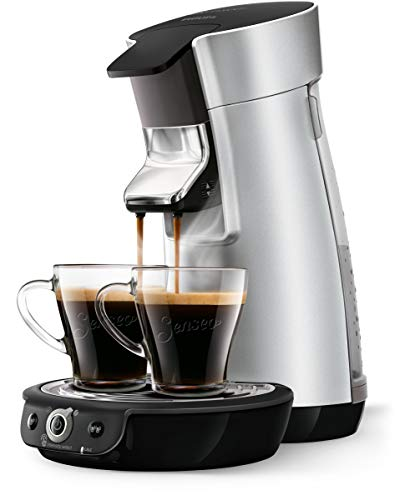 Senseo, Viva Café Duo Select Kaffeemaschine, HD6566/10, 0,9 l, Edelstahl, silberfarben