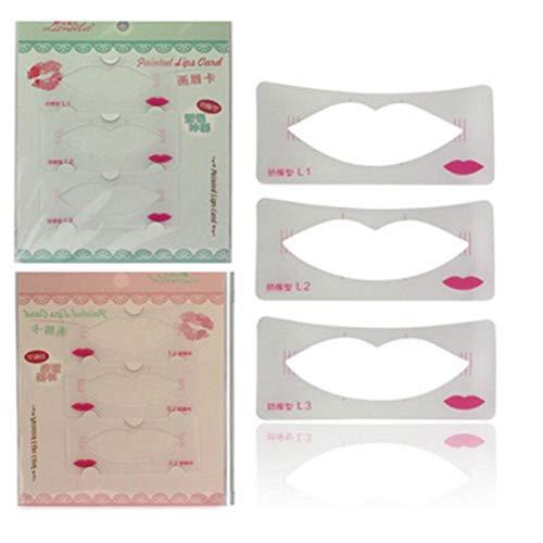 Zonster Pochoirs À Lèvres Formation 3 Lèvres Modèle Styles Lip Line Modèle Carte Pochoir À Lèvres Maquillage Cosmétique
