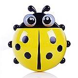 JKLO Baño Caja de Gastos de Dientes Caja de Almacenamiento Ladybug Holder Cepillo de Dientes Animal Pared Succión Pantalla de Pasta de Dientes Accesorios de contenedor 913