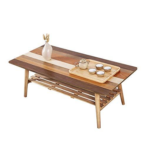 Tables FEI - Bureau d'ordinateur Basse, de Cocktail en Bambou de Chevet Pliante canapé Bureau de Chevet de côté avec Tablette de Rangement Amovible pour Meubles de sal