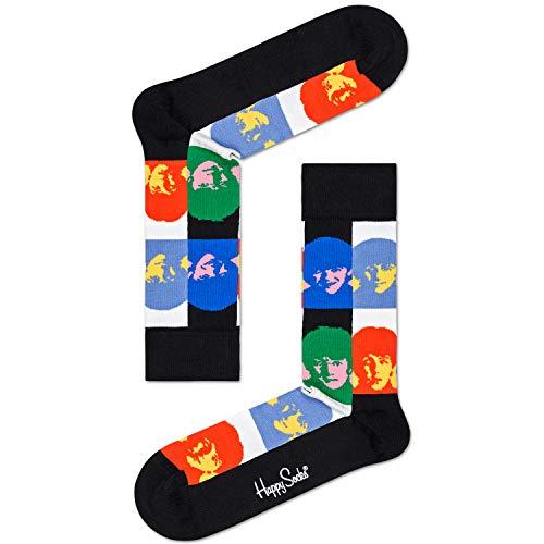 Happy Socks Herren & Damen The Beatles Überprüfen Sie Gesichter 2019 Baumwolle Socken Packung mit 1 Gemischt 36-40