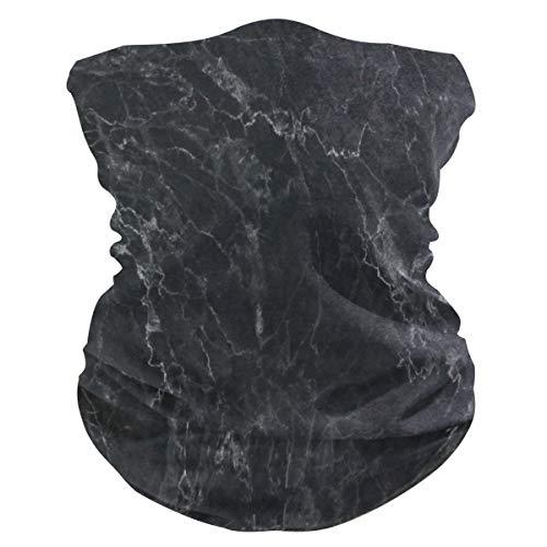 Black Marble Half Face Mask Scarf Cover Dust Wind Neck Gaiter Bandana Women Men