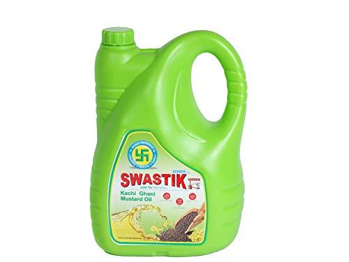Swastik 100% Natural Kachi Ghani Mustard Oil - 5 Litre
