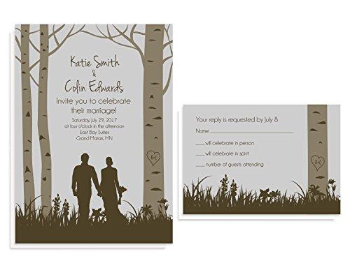 Forest Woodland Wedding Invitation Sets