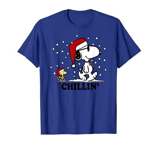 Snoopy and Woodstock Chillin' in the Snow T-shirt, Adult, Youth