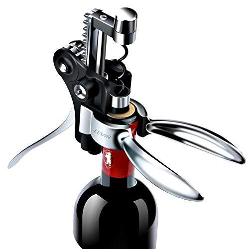 Tire Bouchon de Vin Coffret Cadeau Ouvre Bouteille - Un Amélioré Modèle 2020 Approuvé FDA. Kit de Débouchage Vin, Ensemble Cadeau Coupe-Capsule et Bouchon sous Vide pour Hommes Femmes, Oenophile