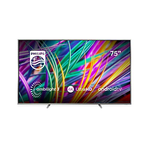 Philips Ambilight 75PUS8303/12 Fernseher 189 cm (75 Zoll) Smart-TV (4K, LED-TV, HDR Premium, Android TV, Google Assistant, DTS Premium Sound) Silber
