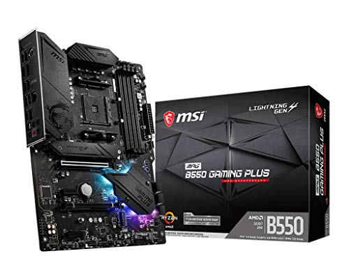 MSI MPG B550 Gaming Plus AMD AM4 DDR4 M.2 USB 3.2 Gen 2 HDMI ATX Gaming Motherboard AMD Ryzen™ 5000 Prozessoren