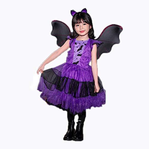Halloween kostuums voor kinderen Halloween Child Costume, Little Girl Princess Dress, verkleedkleren, Cosplay Halloween Dress, leuk en speels (Color : M style A)