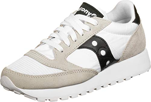 Saucony Jazz Original Vintage White/Black, Zapatillas de Atletismo para Mujer, Blanc OR, 38 EU