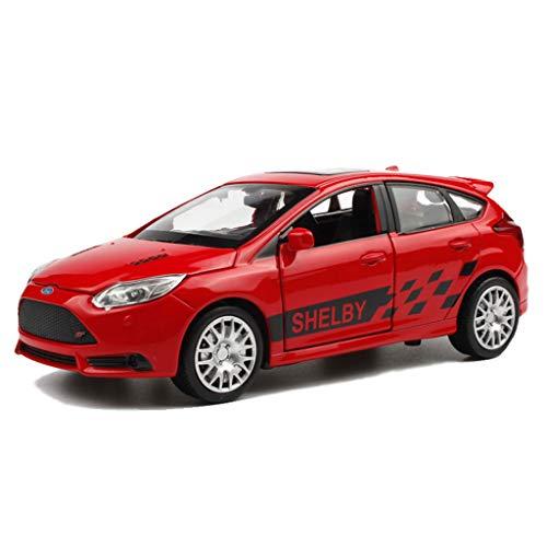 Modelo De Auto Modelo de Coche 1:32 Ford Focus ST simulación de aleación de fundición a presión Juguetes Adornos colección de Coches Deportivos joyería 14.5x5.5x5cm (Color : Red)