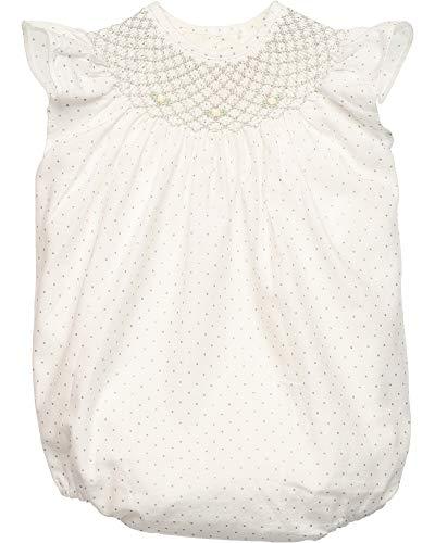 neck & neck Ranita de bebé niña con Lunares Plata y Punto Smock