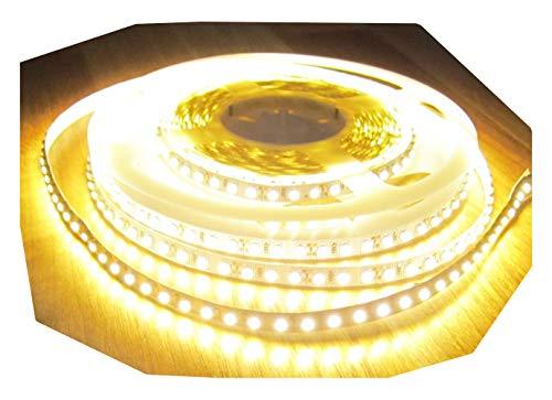 High Power LED Universum Bande lumineuse DEL avec pré-câblage central 600 LED 5 mt blanc chaud et blanc chaud 12 V (sans alimentation), 2660lumen de AS de s