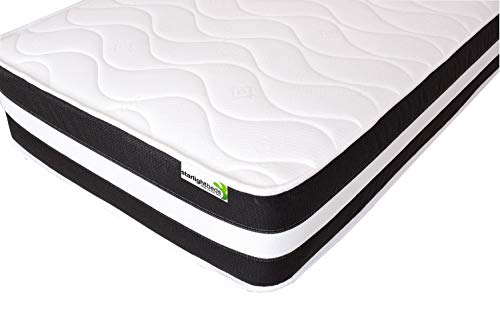 Starlight Beds - Kingsize Mattress, 5ft 3D Quilted Sprung Mattress (5ft x 6ft3) 150cm x 200cm