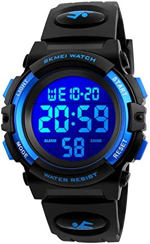 Kids Digital Sport Watch Boys Waterproof Casual Electronic Analog Quartz 7 Colorful Led Watches product image