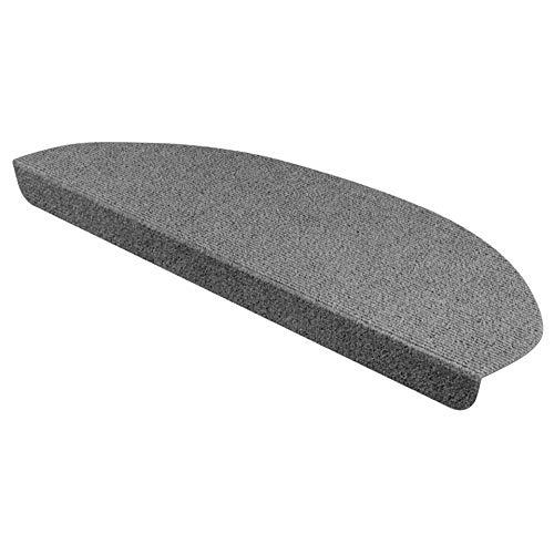 StickandShine Stufenmatte in dunkelgrau halbrund für Treppenstufen, Treppenstufenmatte zum aufkleben