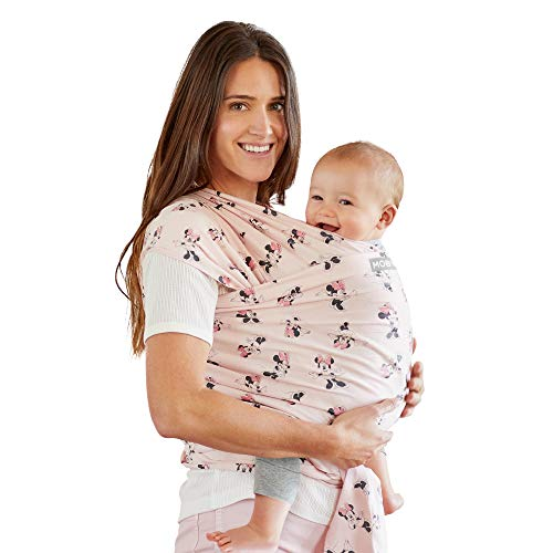 Moby Wrap Baby Carrier | Minnie Mouse | Baby Wrap Carrier for Newborns & Infants | #1 Baby Wrap | Keeps Baby Safe & Secure | Adjustable for All Body Types | Disney Baby