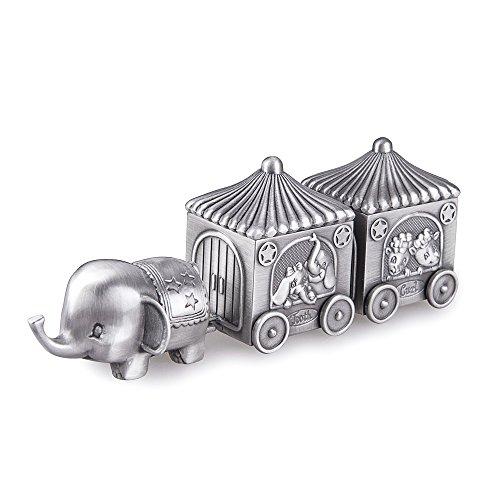Feyarl Erste Locke und Zahn Elefant Erinnerungsschachtel Zug Souvenir Box für Baby Geschenk