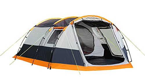 OLPRO Outdoor Leisure Products Knightwick 3.7m x 2.2m 3 Berth Tunnel Tent Orange & Black