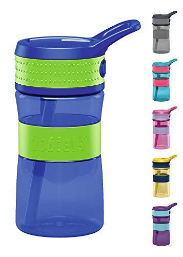 boddels Trinkflasche EEN 400ml - Deine Kindertrinkflasche für jeden Schultag (Apfelgrün / Blau)