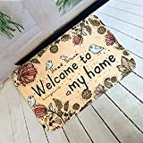 OPLJ Alfombra de Puerta con Estampado de Flores de pájaro Alfombras Antideslizantes Alfombras de área y alfombras Piso Baño Cocina Alfombra Felpudo Lavable A1 40x60cm