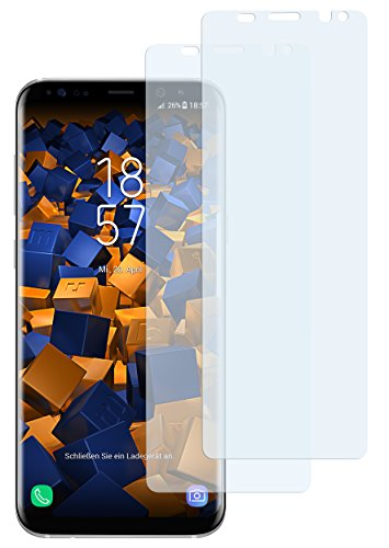 mumbi Schutzfolie kompatibel mit Samsung Galaxy S8 Folie klar, Displayschutzfolie (2X)