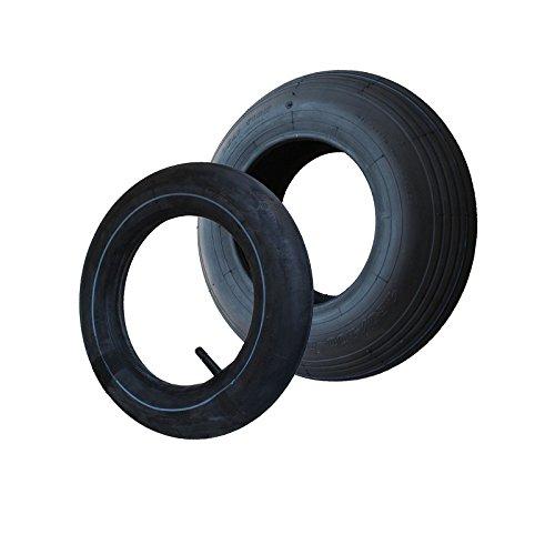 SET Reifen+Schlauch 400x100 4.80/4.00-8 Rillen Profil PR4-Lagen Tragfähigkeit 305 kg