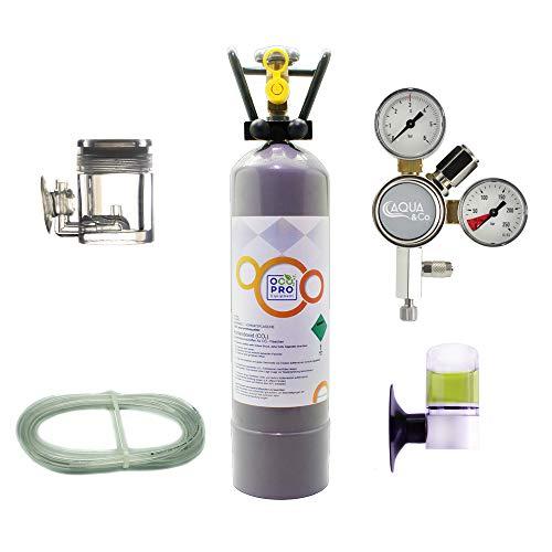OCOPRO CO2 Anlage DLX-350 Aquarium mit Mehrwegflasche (2kg)