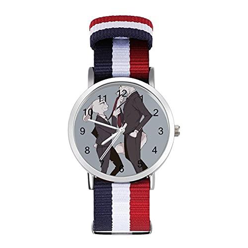 Zootropolis- Reloj trenzado con escala de moda, ajustable, banda de impresión a color, adecuado tanto para hombres como para mujeres