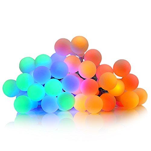 (Multi-color) - Globe String Light, Dailyart multi-color 40 LED Starry Light Fairy Light para jardim, patio, quintal, arvore de Natal e festa (bateria, 4m)