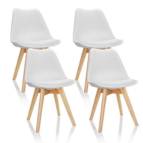 Silla Scandi Blanca Marca hjh OFFICE