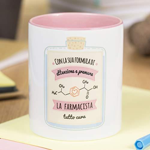 La Mente è Meravigliosa - Taza con Frase y Dibujo Divertido - Regalo Original (Diseño Farmacéutica) (Italiano)