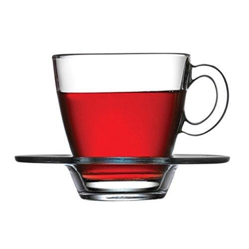 Turkish Tea Set (6 glazen, 6 zuigers) Aqua Design by Pasabahce