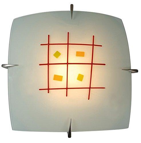 Naeve Leuchten Glasdeckenleuchte/s: 30 cm, a: 10 cm/Metall, glas/bunt 160761