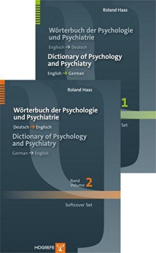 Wörterbuch der Psychologie und Psychiatrie / Dictionary of Psychology and Psychiatry: Softcover set