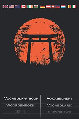 Bambus japanisches Torii Vokabelheft: Vokabelbuch mit 2 Spalten für Naturfreunde und Umweltschützer