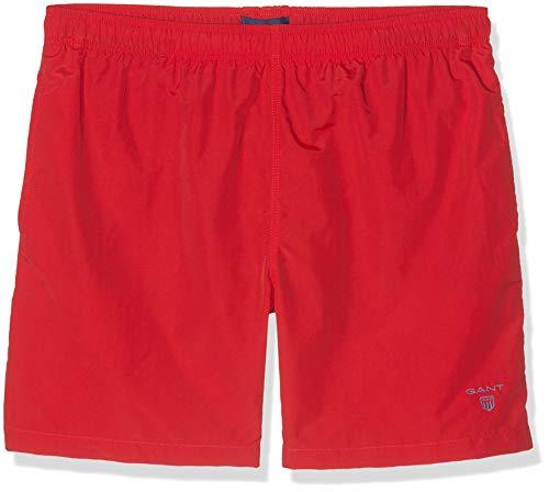 GANT Jungen Boys Basic Swim Shorts Badehose, Rot (Bright Red 620), 128 (Herstellergröße: 122/128)