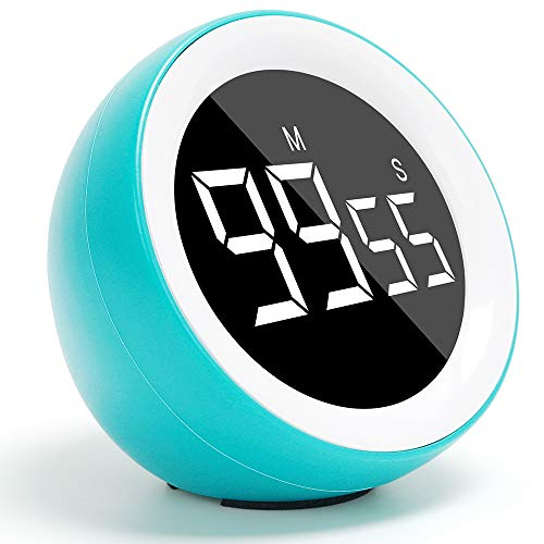 Digital Kitchen Timer, Count up or Countdown LED Timer for Cooking Fitness Meeting, Kids Timer for Homework Game (99 Minutes and 55 Seconds)