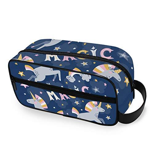 Starry Night Magic Unicorn Storage Portable Makeup Bag Trousse de toilette Ladies Tools Cosmetic Train Case Travel