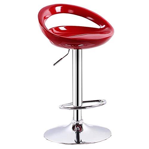 WHOJA Taburete de Bar Barra de Respaldo Mesa y sillas Rotativo Silla Alta de elevación Mueble Bar Peso del rodamiento 150kg Altura Ajustable 60-80cm Silla de Comedor (Color : Red)