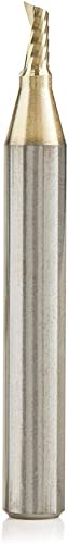 lowest Amana Tool 51474-Z SC Spiral O Single Flute ZrN Coated Aluminum Cutting 1/8 D x 1/4 high quality CH x 1/4 SHK x 2 Inch Long Up-Cut Router Bit withMirror online Finish online sale