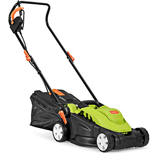 Goplus Electric Lawn Mower w/Folding Handle and Detachable Collection Box, 14-Inch 10Amp...