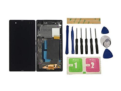 Flügel für Sony Xperia Z / L36H / C6603 / C6602 Display LCD Ersatzdisplay Schwarz Touchscreen Digitizer Bildschirm Glas Komplett Einheit mit Rahmen Ersatzteile & Werkzeuge & Kleber