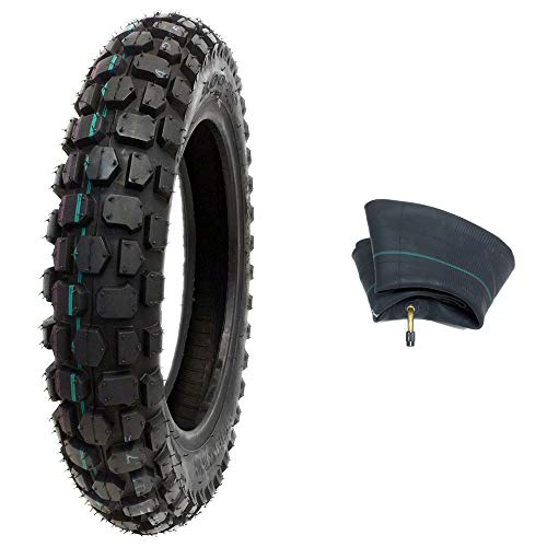 MMG Combo Off Road Knobby Tire Size 3.00-12 with Inner Tube Size 3.00/3.50-12 TR87 Valve Stem