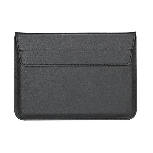 i-Buy Plemo Laptophülle, Umschlag PU-Leder für 33cm x 22.5cm(13-13,3 Zoll) Laptop / Notebook Computer / MacBook / MacBook Pro / MacBook Air - Shwarz