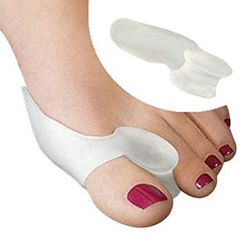 Beniwal Cotton 2pair=4pcs Soft Beetle-crusher Bone Ectropion Toes Outer Appliance Gel Silica Toes Separation Health Care Products Orthotics