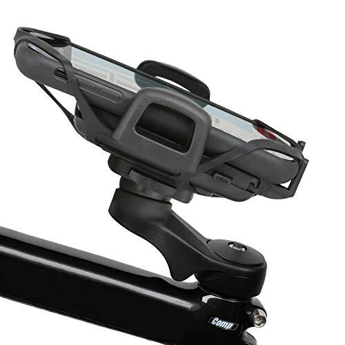 Wicked Chili fiets-telefoonhouder universeel voor bevestiging aan de voorbouw compatibel met Samsung Galaxy S10+, Huawei P30 Pro, iPhone XS Max en smartphones met 58-85 mm breedte (20% carbon) zwart
