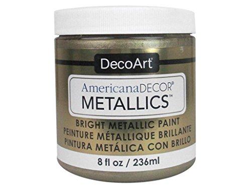 DecoArt Ameri Deco MTLC Cham Americana Decor Metallics 8oz ChampagnGld, 1, Champagne Gold