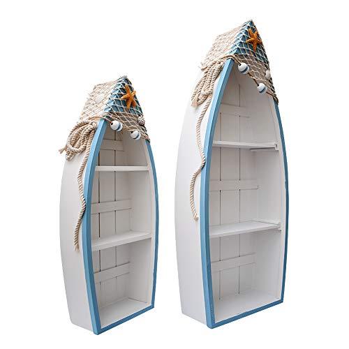 Attraction Design Wooden Boat Shelf Set of 2