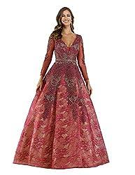 Lara 29679 - Rhinestone Embellished Ballgown